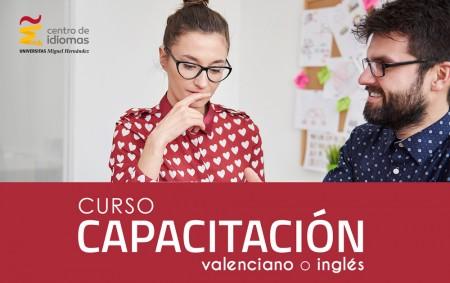Capacitación valenciano inglés Centro de Idiomas UMH